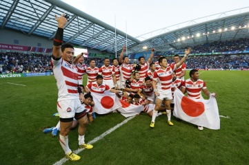 Japan's victory over South Africa at the 2015 Rugby World Cup was a high point for the nation (Photo: www.rugbyworldcup.com)