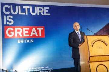 UK culture secretary Sajid Javid photographed on a trade visit to India (Photo: British High Commission, New Delhi)