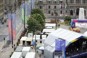 The Great Big Opening Party took place in Glasgow's George Square on 1st August (Photo: Glasgow 2018)