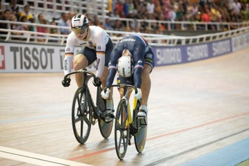 François Pervis flying to victory at the UCI World Track Champs in Cali in 2014 (Photo copyright: UCI)