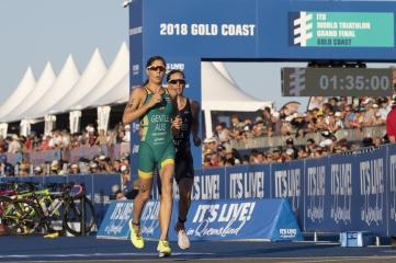 Elite women's race from 2018 ITU World Triathlon Grand Final on the Gold Coast.