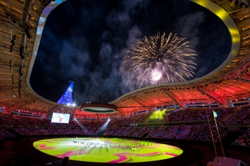 Ashgabat stadium at the closing ceremony of the Asian Indoor and Martial Arts Games 2017 (Image credit: ©Ashgabat2017)
