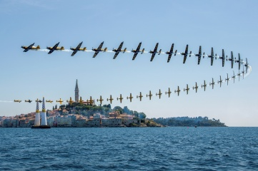 Freeze-frame photography of Nigel Lamb of Great Britain during the Red Bull Air Race World Championship in Rovinj, Croatia in May 2015 (Photo: Predrag Vuckovic/Red Bull Content Pool)