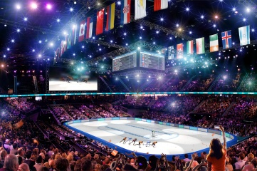 The Rotterdam Ahoy indoor arena hosts the ISU World Short Track Speed Skating Championships in 2017