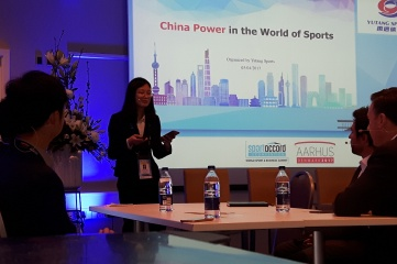 Zhang Tingting of Yutang Sports staged a session at SportAccord 2017 in Aarhus (Photo: Host City)