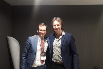 Ben Avison and Matt Clifford backstage at Global Sports Week (Photo: Host City)