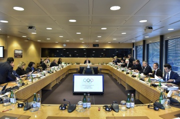 The IOC Executive Board met in Lausanne from 8 to 10 December 2015 (Photo Copyright IOC/Christophe Moratal)