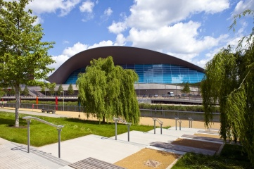 The Aquatics Centre located in London's Queen Elizabeth Olympic Park was built for legacy and modified for the Games (Photo: chrisdorney / Shutterstock.com)