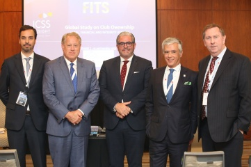 (L-R) Fernando Veiga Gomes (President, Legal Commission, UIA), Michael Hershman (Group CEO, ICSS), Emanuel Macedo de Medeiros - CEO, ICSS INSIGHT, Pedro Pais de Almeida, President of the UIA (Union Internationale des Avocats), Rick McDonell - Executive Secretary, Association of Certified Anti-Money Laundering Specialists (ACAMS) / former Executive Secretary of the Financial Action Task Force (FATF)