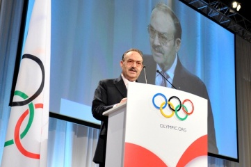Mario Vázquez Raña at the 2009 IOC Congress (Photo copyright: IOC/R. Juilliart)