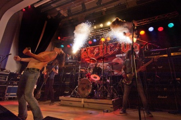 Tribute band AC/DC UK performing at Bonfest. Credit: Craig Cantwell