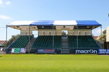 The new South West Stand adds 360 temporary seats