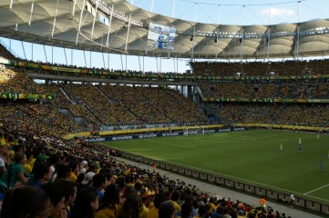Arena Group installed demountable seats in 2014 World Cup venues including Arena Fonte Nova (pictured) and Arena do Sao Paulo
