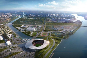 A rendering of the proposed Budapest 2024 Olympic Park (Image: Budapest 2024)
