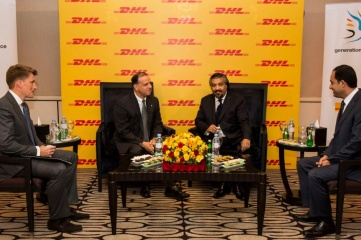 HRH Prince Feisal Al Hussein and Mr Mahmoud Haj Hussein at a special DHL event on Jordan Independence Day