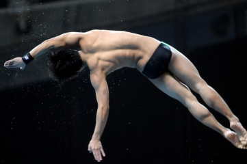 England's Tom Daly diving at Delhi 2010 (Photo: Glasgow 2014)