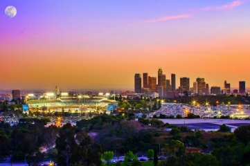 Dodger Stadium and the LA skyline (Image: discoverlosangeles.com)