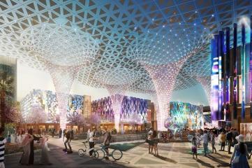 An artist's impression of the Expo 2020 Dubai site