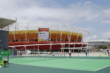 The Olympic Tennis Centre is one of the few structures built for permanent use (Photo: Rio 2016 / Daniel Ramalho)