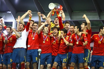 Spain won Euro 2012 in Poland and Ukraine