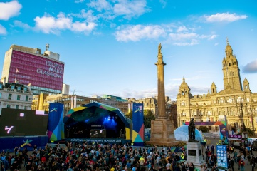 George Square during the Glasgow 2018 European Championships