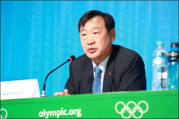 Hee-beom Lee, the president and CEO of the PyeongChang Organising Committee for the 2018 Olympic & Paralympic Winter Games (POCOG)