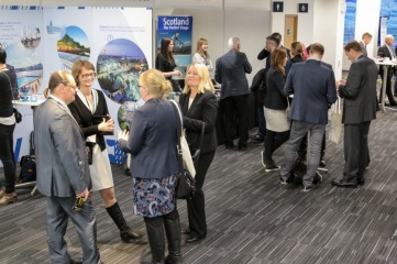 Exhibitors and delegates networking at Host City 2016