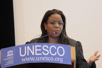 Anne Wangari Kirima-Muchoki, Chairperson, Kenya Investment Authority at an IGU-UNESCO Workshop on Women in Engineering (Photo: UNESCO/P. Chiang-Joo)