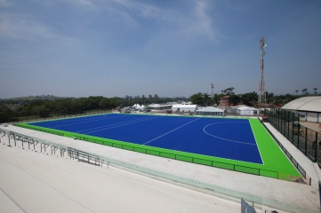 Rio 2016's hockey competition at the Deodoro Park is being played on a high performance innovative synthetic turf system from Dow