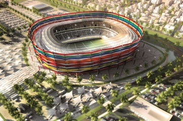 Al-Gharrafa Stadium will be expanded from 27,000 to 44,740 for the 2022 World Cup, with the addition of a facade representing qualifying nations