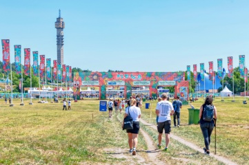 Entrance to Lollapalooza music festival's first appearance in Stockholm in June 2019 (Photo: Stefan Holm, Shutterstock)