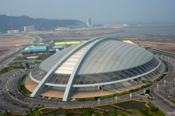 The Macau East Asian Games Dome is the largest indoor sporting facility in the city
