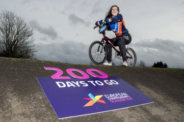 18-year-old Glaswegian BMX racer Mia Paton will compete at Glasgow 2018