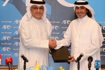 AFC president Shaikh Salman bin Ebrahim Al Khalifa and ICSS president Mohammed Hanzab signed the MoU after the AFC Congress