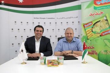 Nasser Majali, Secretary General of the Jordan Olympic Committee and Ihab Al Shorafa, CEO of Tasali Jordanian Trading Institute
