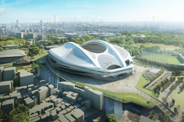 The new national stadium is set to host the opening match, semis and final of the 2019 World Cup, as well as the opening and closing Olympic ceremonies, athletics, football and rugby sevens in 2020 (Photo: Tokyo 2020)