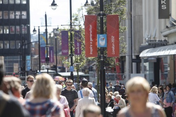 Street dressing in Newcastle during London 2012 (Photo: CSM Live)