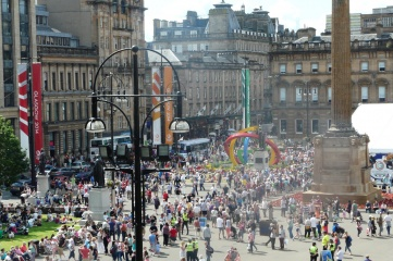 Glasgow's George Square during the 2014 Commonwealth Games (Photo: Host City)
