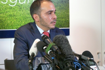 HRH Prince Ali of Jordan upped his game at a press conference in London (Photo: HOST CITY)