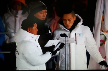 Athletes from Republic of Korea and the Democratic People's Republic of Korea united in PyeongChang (Photo: Host City)
