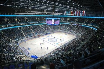 The home team won 4-2 in the first ever match in the New Ice Arena (Photo: hcbarys.kz)