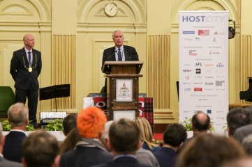 Sir Craig Reedie CBE also spoke at the Civic Reception at Glasgow City Chambers (Photo: Host City)