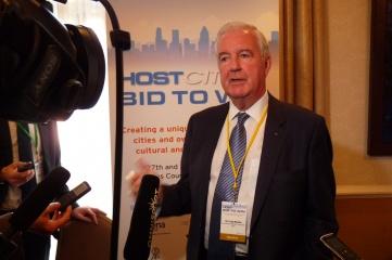 Sir Craig Reedie speaking at Host City in 2014 (Photo: Host City)