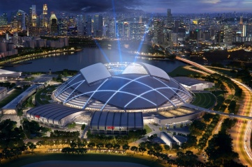 The new Singapore Sports Hub will be the main venue for next year's mega event