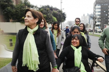 Susana Villarán (left), mayor of Lima, the host city of the 2019 Pan American Games