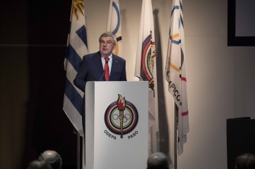 President Bach at the General Assembly of the Pan American Sports Organization (PASO) in Uruguay