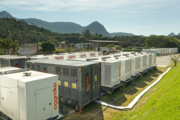Generators in Rio de Janeiro used to power event infrastructure for the 2014 FIFA World Cup
