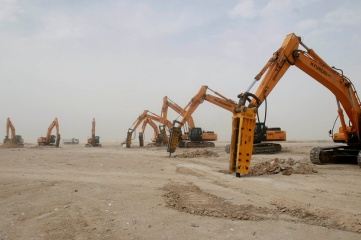 Local firm HBK is doing the piling work for the foundations of Al Wakrah stadium