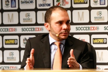 FIFA vice president Prince Ali is building his campaign by speaking to the press and FIFA members (photo: Soccerex)