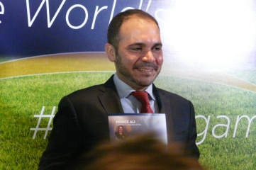 Prince Ali photographed at the launch of his campaign in February